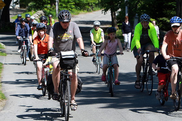Riders of all ages cycled past Lynch Park, while they participated in The Mayor's Ride, hosted by the Beverly Bike Committee on Saturday afternoon. David Le/Staff Photo