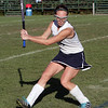 Swampscott High School's Tessa Beane hits the ball upfield during Manchester-Essex on Wednesday afternoon. David Le/Salem News