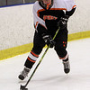 Beverly's Rachel Ingraham carries the puck behind her net against Marblehead on Saturday. David Le/Salem News