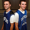 Danvers juniors Nick McKenna, left, and Dan Connors, right, have been a big part of the Falcon's success this year. The duo have switched roles throughout the season, with Connors now the starter and McKenna coming off the bench. David Le/Staff Photo