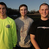 Danver High School boys track captains Brian Hebert, Anthony Panciocco, and Mauro Cognatti. David Le/Salem News