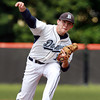 Danvers starting pitcher Scott Hovey fires a strike against Burlington on Wednesday afternoon in D2 North Semi-Final action. David Le/Staff Photo