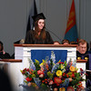 Gordon College senior Alyssa Baker, gives her Senior Reflection during the Baccalaureate Service on Friday afternoon. David Le/Staff Photo