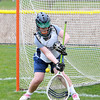 Pingree junior goalie Maura Grady makes a save during practice. David Le/Staff Photo
