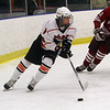 Beverly's Nick Albano (8) carries the puck against Gloucester on Saturday afternoon.David Le/Salem News