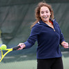 Pingree's Veronica Montiero returns a serve during practice on Wednesday. David Le/Staff Photo