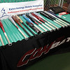 Bats from COM Bat are on display at Extra Innings in Middleton on Thursday night,. David Le/Salem News