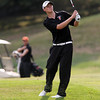 Beverly junior Shamus Desmond watches his shot from the fairway on Friday afternoon. David Le/Staff Photo