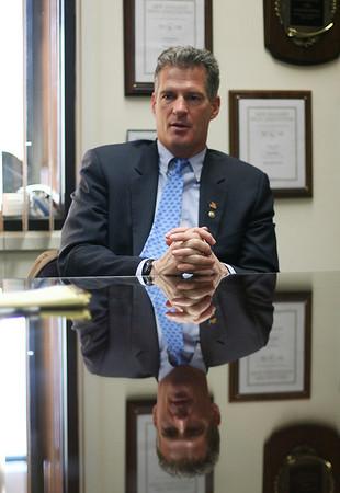 US Senator Scott Brown talks with The Salem News on Friday afternoon. David Le/Salem News