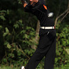 Beverly senior Kevin Dyer tees off against Marblehead on Friday.David Le/Staff Photo
