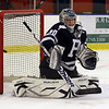 Peabody goalie Joe Powers only let one shot by Salem slip past him on Wednesday night. David Le/Salem News