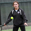 Pingree sophomore Erin Cunningham concentrates on the ball at practice on Wednesday. David Le/Staff Photo