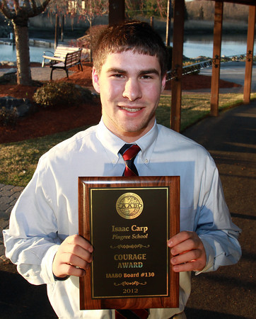 Isaac Carp from Pingree, won the 2012 IAABO Courage Award. David Le/Staff Photo
