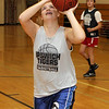 Ipswich High School's Brigid O'Flynn goes in for a layup during practice on Thursday. David Le/Salem News