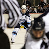 UMaine captain and Salem native Will O'Neill waits for the faceoff against UNH on Saturday night. David Le/Salem News
