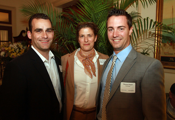 "From left, Jonathan Ofilos, Jess Yurwitz, and Thomas Hogan at the ""Great Expectations"" Fundraiser for Salem Cyberspace at The Hawthorne Hotel on Tuesday evening. David Le/Staff Photo"