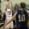 Topsfield: Masco's Claudia Marsh (22) hits a jump shot against Arlington Catholic on Thursday night. David Le/Salem News