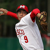Masconomet starting pitcher Greg Jain fires a strike against Hamilton-Wenham on Tuesday afternoon. David Le/Staff Photo