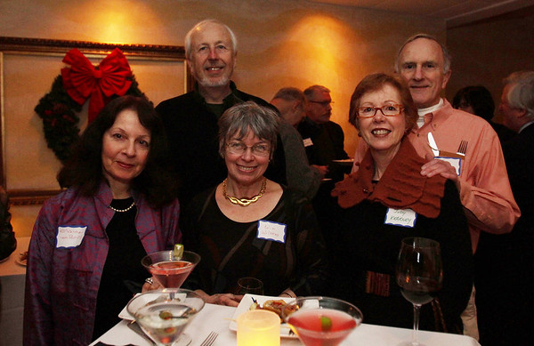 From left, Elaine von Bruns, Chuck von Bruns, Win Wilkens, Judy Kearney and Jim Kearney at the Salem Athenaeum Fundraiser held at the Adriatic Restaurant on Washington St. in Salem. David Le/Salem News