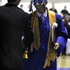 Danvers: Danvers High School Senior Class President, Mohamed Ali Najia, is congratulated after his address to his fellow classmates at the commencement ceremonies held on Saturday afternoon in the Danvers High Gymnasium