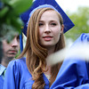 Waring School senior Quinn Bokor, of Beverly, waits to march down the aisle at her graduation on Friday afternoon.  David Le/Staff Photo