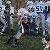 Hamilton-Wenham quarterback Trevor Lyons bootlegs at practice. David Le/Salem News