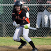 Beverly's Ally Pia makes contact with the ball against Salem on Tuesday afternoon. David Le/Staff Photo