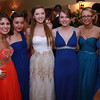 Salem High School juniors from left, Becca Desrocher, Katie Dube, Catherine Mageski, Marlena Uden, Lily McCarthy, and Antonia Katsiris, pose for a photo at their junior prom on Friday evening at the Peabody Marriott. David Le/Staff Photo