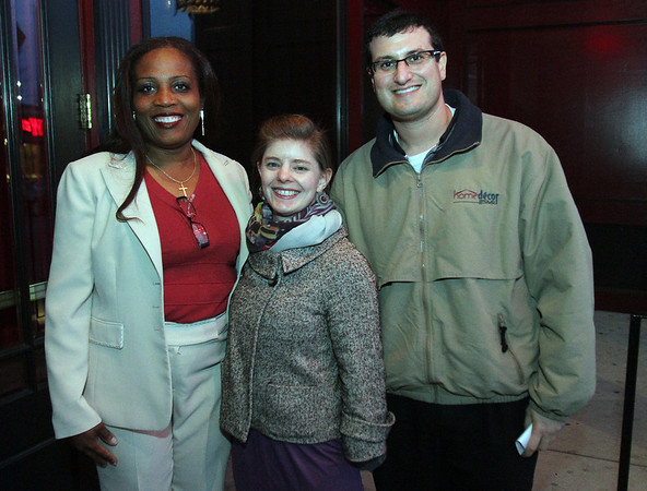 From left, Christian Francois, Vivienne Lowe, and Jonathan Tapper, at Red Lulu for a Young Entrepreneurs seminar by the Enterprise Center David Le/Staff Photo