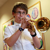 Miles River Middle School 7th grader Jack Sauriol plays a solo during the jazz band performance on Wednesday evening. David Le/Staff Photo