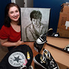 Shannon Downey, of Peabody, is organizing a 5K race in honor of her brother, Patrick Downey, who passed away from a rare form of cancer, called esophageal cancer. Converse has decided to sponsor the event and has donated bags, keychains, and pairs of Chuck Taylors. David Le/Staff Photo