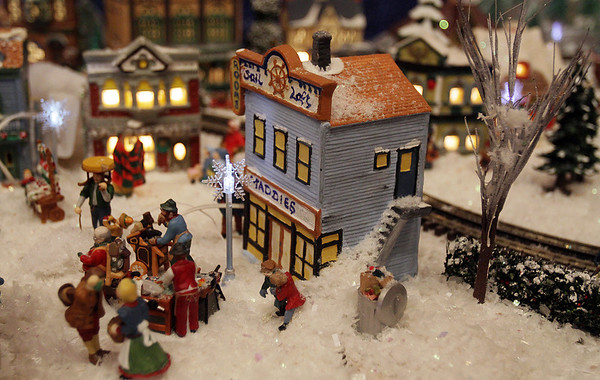 Marblehead: Maddies Sail Loft-a part of the scenery in Stu Curtis' model train set which he donated to the Gerry 5 for Christmas time. David Le/Salem News