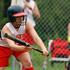 Masco sophomore Alex Mendelsohn keeps her eye on the ball as she lays down a bunt against North Reading on Wednesday afternoon. David Le/Staff Photo