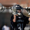 Hamilton-Wenham goalie Grant Thompson looks to pass against Beverly on Friday afternoon. David Le/Staff Photo