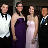 Salem High School junior class officers Will Parr, Hannah Morin, Amanda Mazola, and Evan Le, at their junior prom at the Peabody Marriott on Friday evening. David Le/Staff Photo