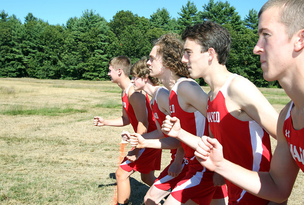 From left, Masco cross country senior captains Jay Polakiewicz, Jake Wootan, Liam Davis, Marco Caserta, and Jake Moorman, look to lead the Chieftans to a CAL title this fall. David Le/Staff Photo
