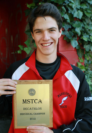 Marblehead senior Nolan Raimo won the Decathalon at the Massachusetts State meet last weekend. David Le/Staff Photo