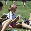 Danvers: From left, Rose Bailey, Becky Henion and Jill Henion, enjoy their ice cream on a hot summer day at the 8th Annual Scoop-Ah-Bowl, held at Danvers High School on Saturday afternoon. Photo by David Le/Salem News