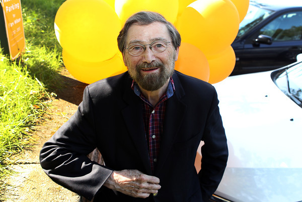 Students at Gordon College have decorated the parking spot of Dr. Marvin Wilson, a Biblical Studies professor, with gold balloons and a golden sign, to celebrate his 50th year of teaching. David Le/Staff Photo