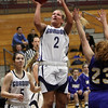Gordon College freshman Leanna Tallamy (2) goes up for a layup against WNEC on Wednesday night. David Le/Salem News