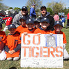 The C-6 Tigers of the Danvers American LIttle League pose for a photograph following the Opening Day Parade and Festivities on Saturday. David Le/Staff Photo