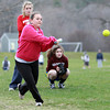 Pingree sophomore Christina Chalmers takes some swings during practice on Wednesday. David Le/Staff Photo