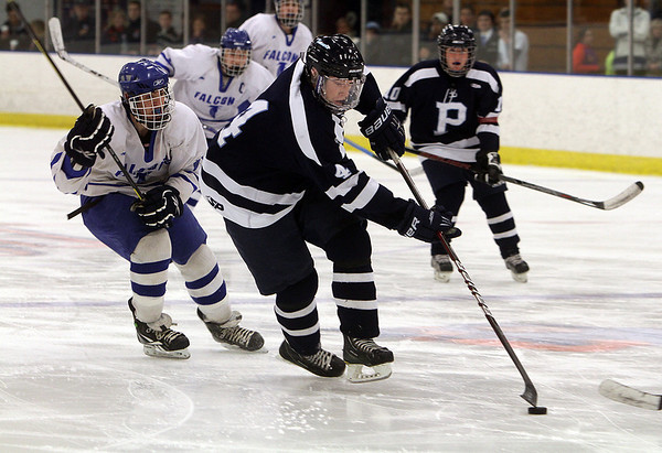 Salem: Peabody's Matt McIsaac rushes into the attacking zone on Saturday against Danvers. David Le/Salem News