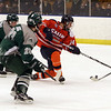 Salem State's Derek Crocker (24) takes a shot on net against Plymouth State on Saturday afternoon. David Le/Salem News