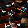 A few Gordon College seniors sported colorfully decorated mortar boards during the Baccalaureate Service on Friday afternoon. David Le/Staff Photo