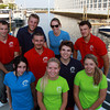 Will Cole, Owner of the Hannah Glover, back row second from left, and Mahi Mahi Cruises launched their new boat on Thursday evening from Pickering Wharf in Salem. Cole and GM Whitney Peabody, back row second from right, are pictured with some of their crew members before their first cruise. David Le/Staff Photo