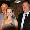Marblehead: From left, Brian LeClair, Katherine Koch, and Kevin Bugler, attended a business breakfast forum with a presentation by Margaret Somer, regional director of the Massachusetts Small Business Development Center, held at Jack Tar's American Tavern in Marblehead Wednesday morning. Photo by David Le/Salem News