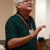 Gene Anderson, Director of the Northoshoremen Barbershop Chorus, leads the group in rehearsal on Wednesday evening. David Le/Staff Photo