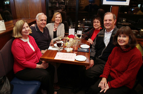 Clockwise from left, Pam Peterson, Lewis and Sharon Livermore, Lee and Eric Rosenvold, and LIbby Moore at Museum Night at The Landing in Marblehead on Tuesday evening. David Le/Salem News