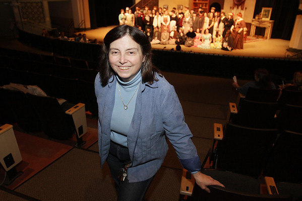 """Ipswich High School Musical Director Debbie Faust will be putting on """"My Fair Lady,"""" her last show in 27 years. David Le/Salem News"""